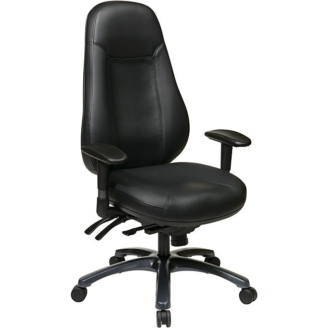 Office StarBlack Eco Leather Multi-Function High-back Chair
