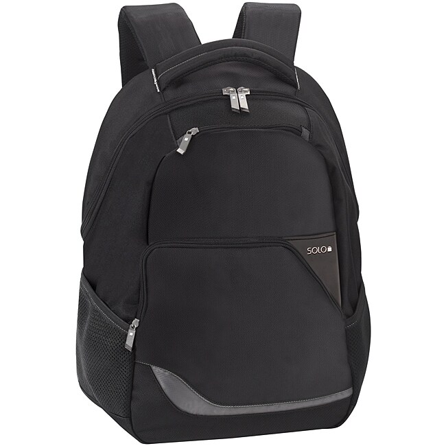 Black Polyester SOLO Vector 16-inch Laptop Commuter Backpack