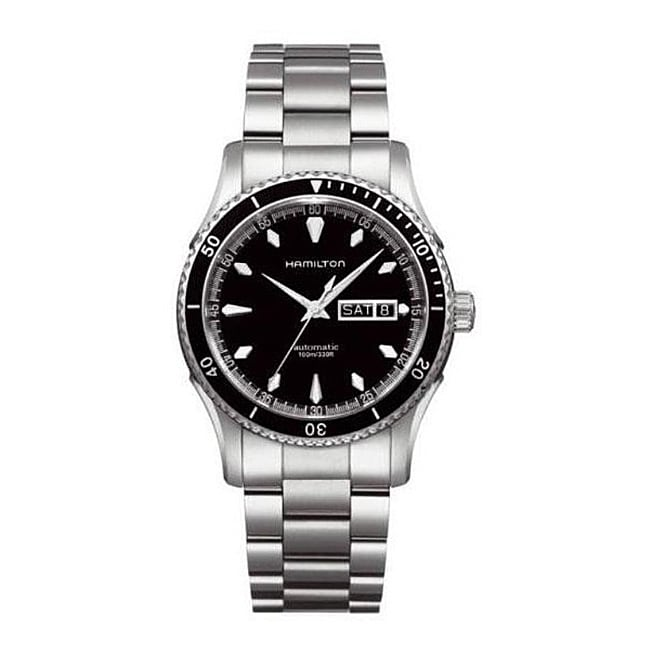 Hamilton Seaview Men's Black Dial Stainless Steel Self Winding Automatic Watch