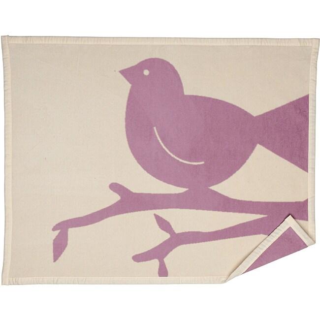 Bocasa Erika Bird Organic Baby Blanket