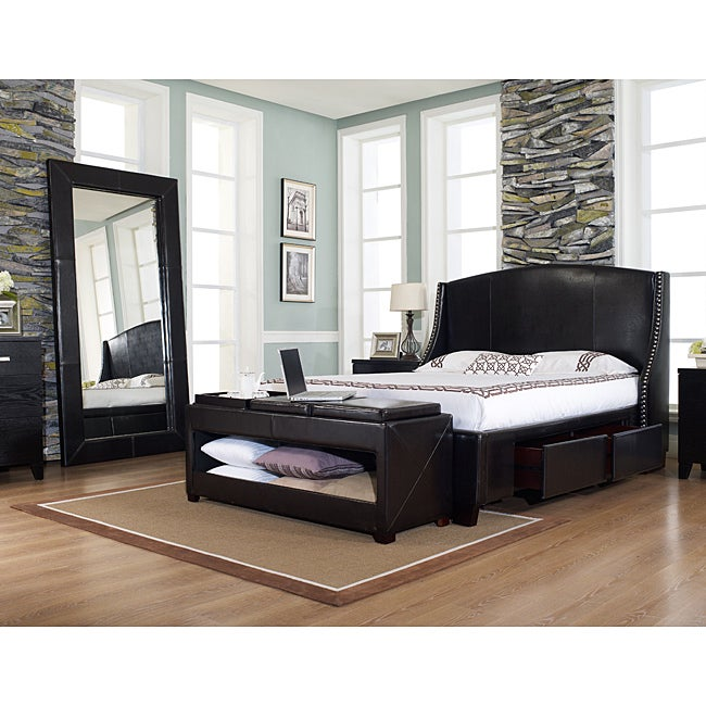 Oxford-X 4-Drawer Eastern King-size Leather Bed