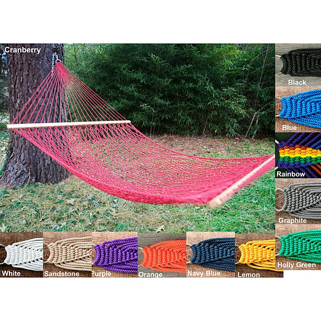 Overstock.com Phat Tommy Outdoor Oasis Hand Woven Olefin Rope Hammock at Sears.com