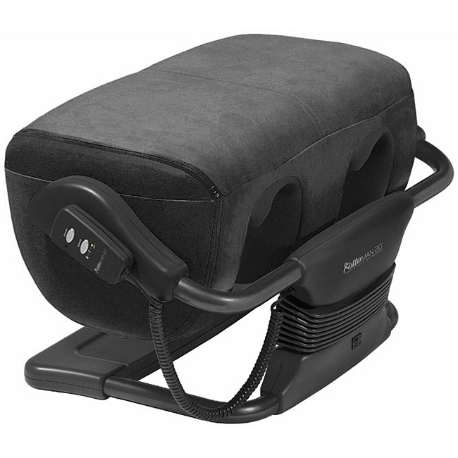 iJoy Black Microsuede Ottoman 2.0 Calf and Foot Massager (Refurbished)