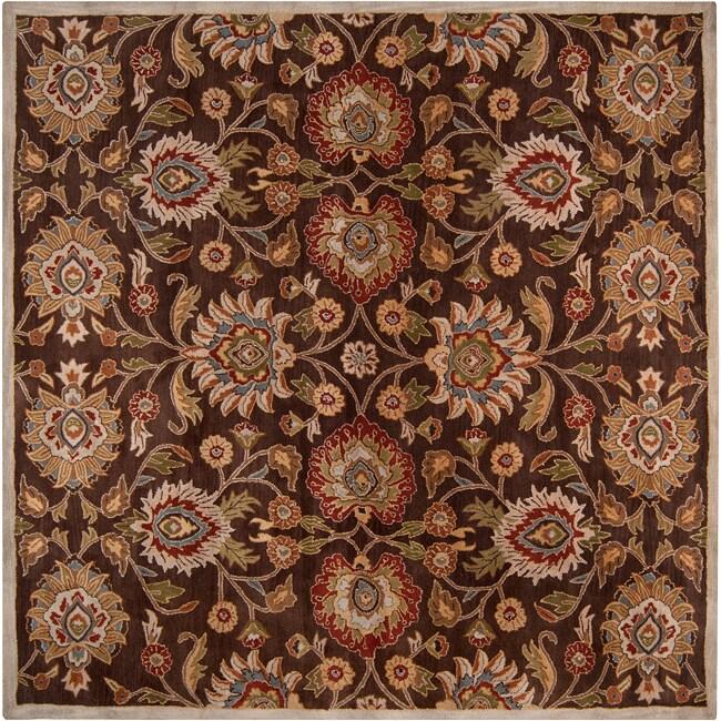Hand-tufted Wool Chocolate Waltzer Rug (9'9 x 9'9)
