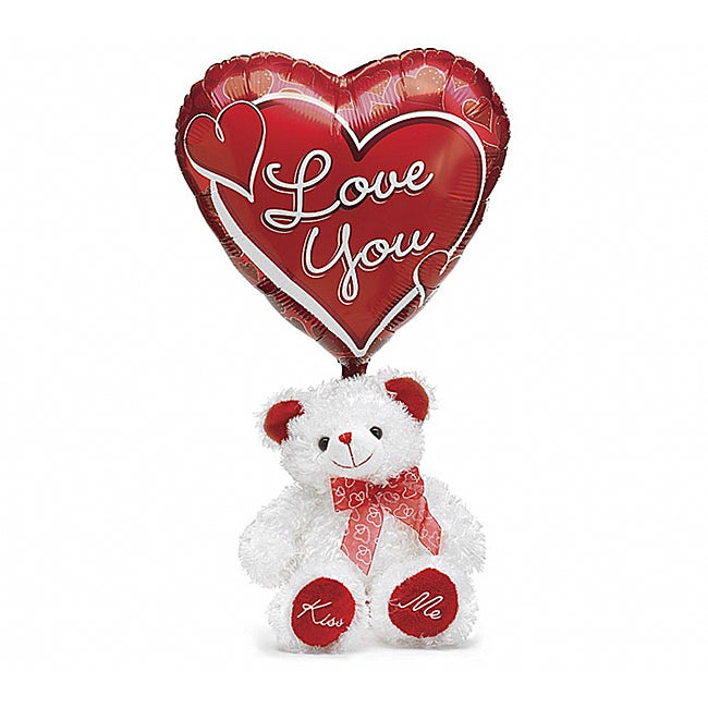 'Just for You!' Valentine Teddy Bear and Balloon