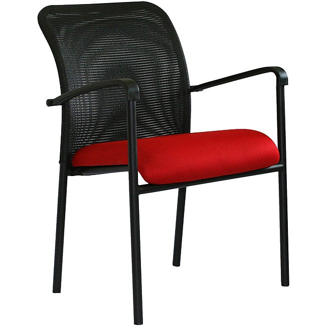 Red/ Black Steel Office Guest Chair