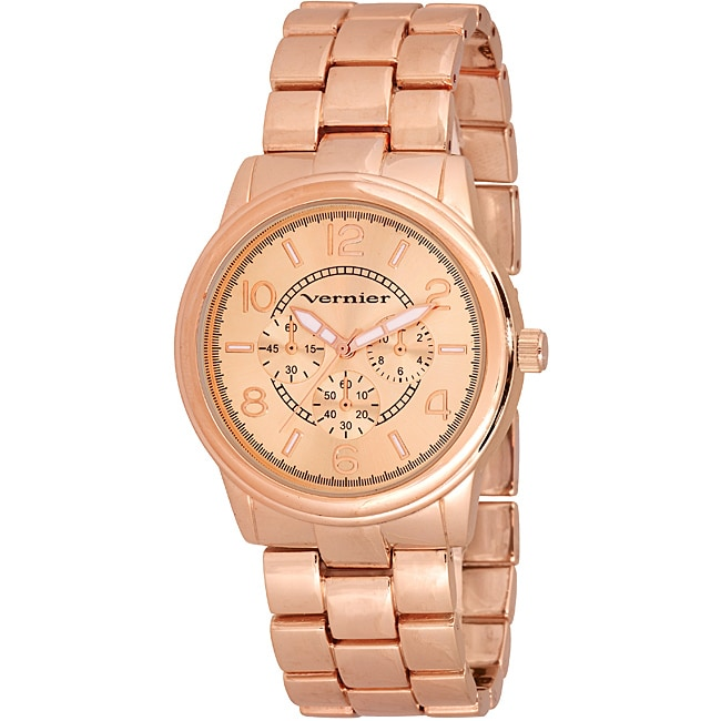 Overstock.com Vernier Women's V205 Round Rose Gold Chrono Look Bracelet Watch at Sears.com
