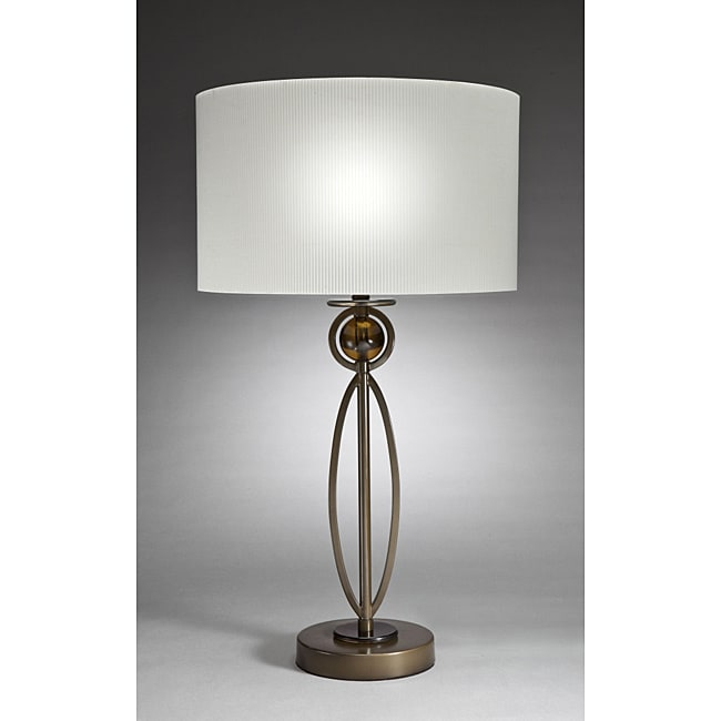 Aztec Lighting Contemporary 1-light Brushed Antique Bronze Table Lamp