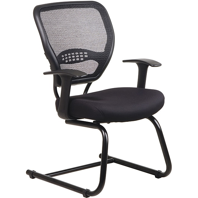 Office Star Professional Dark Air Grid Back Mesh Seat Visitors Chair