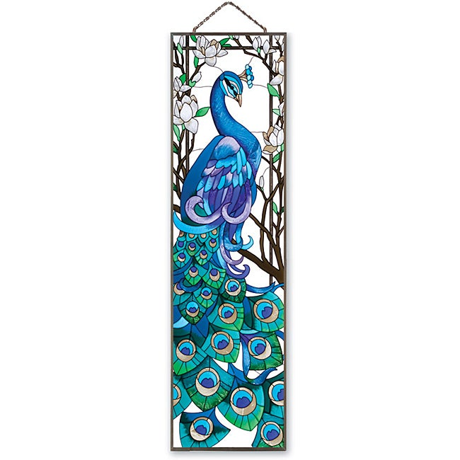 Joan Baker Hand-painted 'Peacock' Art Panel