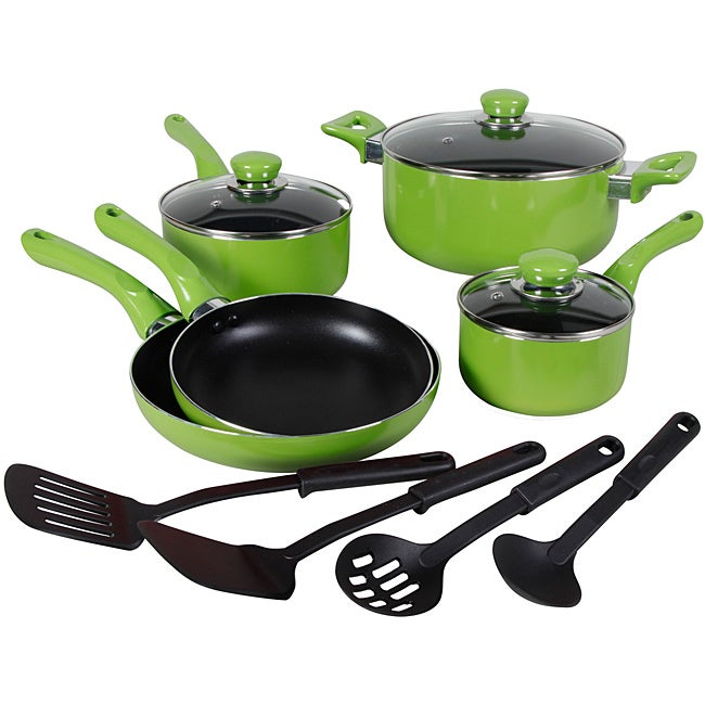 Everton 12-piece Green Cookware Set