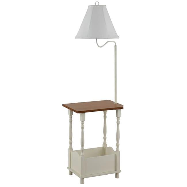 Cape cod magazine rack floor lamp 14093639 overstock for Cirrus bronze floor lamp