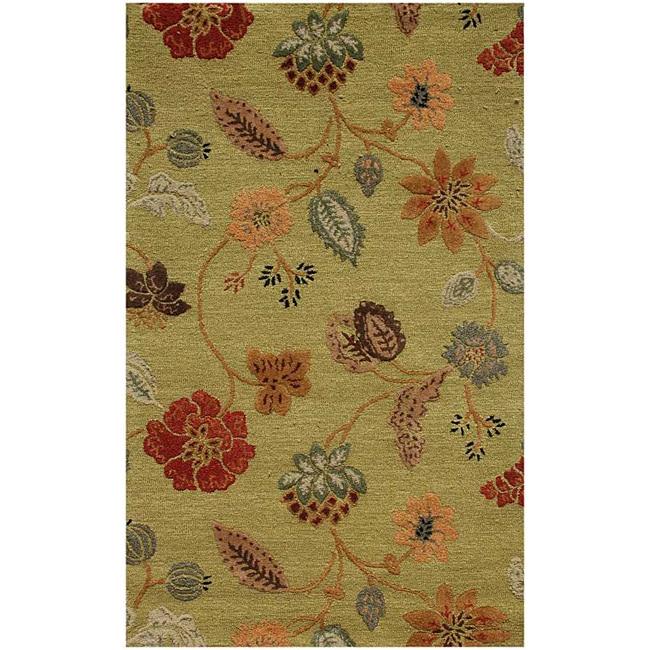 Hand-Tufted Wool & Art Silk Rug (3'6 x 5'6)