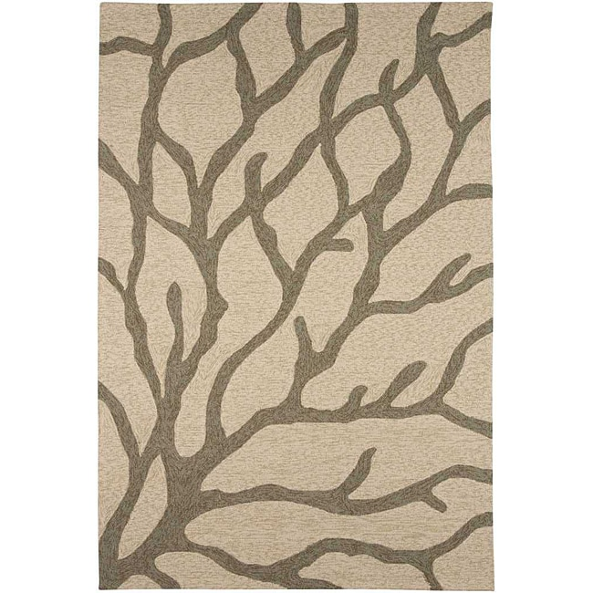 AT HOME by O Hand-hooked Grey Indoor/ Outdoor Area Rug (7'6 x 9'6) at Sears.com