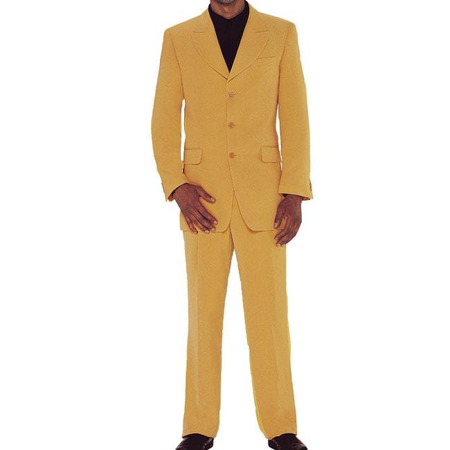 Divine Apparel Men's Two-piece Mustard Suit