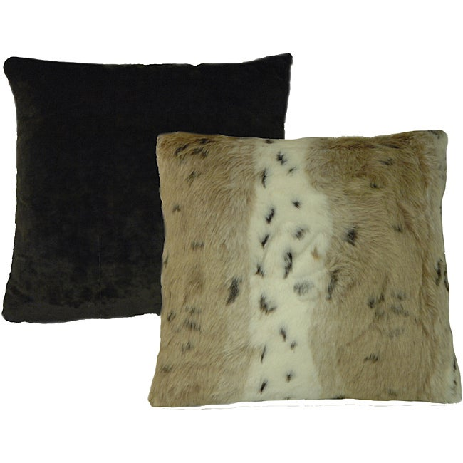 Snow Leopard Square Pillows (Set of 2)