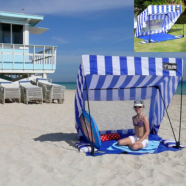 Infinita Blue/ White Island Shade Tent and Beach Shack