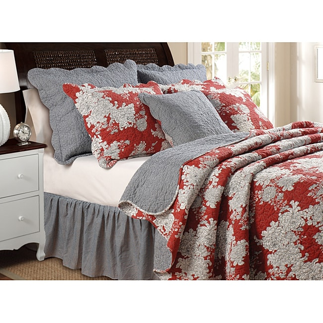 Greenland Home Fashions 'Lorraine' 5-piece Full/Queen-size Quilt Set