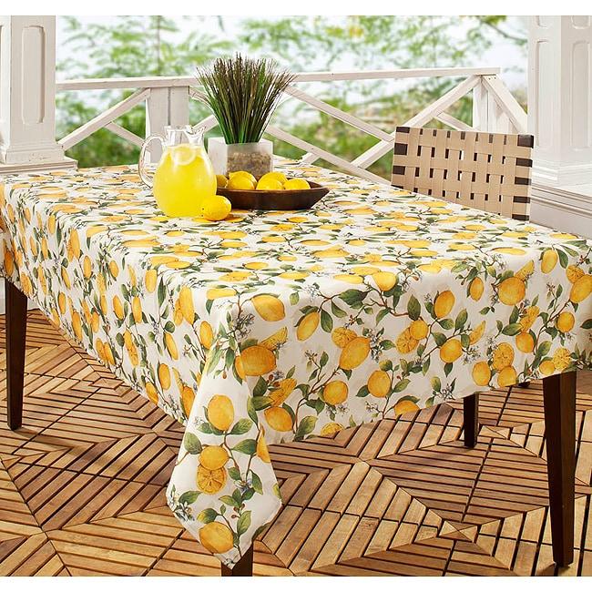 Lemon Tree Printed 60x120 inch Rectangular Tablecloth