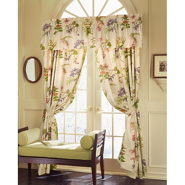 Murray Hill White Floral Valance