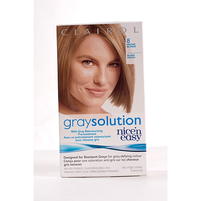 Clairol gray solution nice 39 n easy 8 medium blonde pack of 4 overstock shopping big - Easy hair care solutions ...