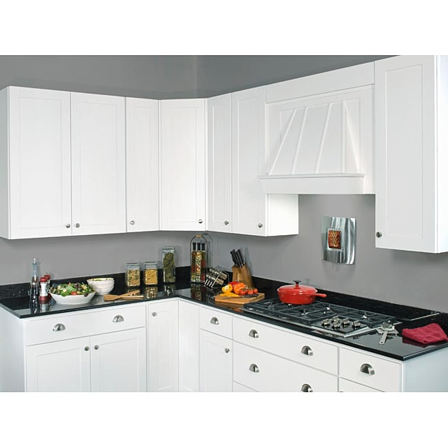 Sink base painted white 42 inch cabinet overstock for 42 inch kitchen cabinets