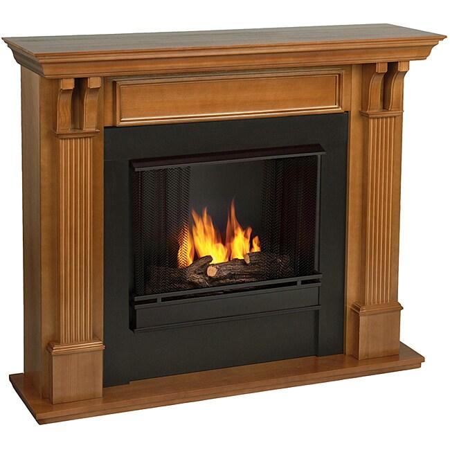Real Flame Ashley Oak Finish Gel Fireplace