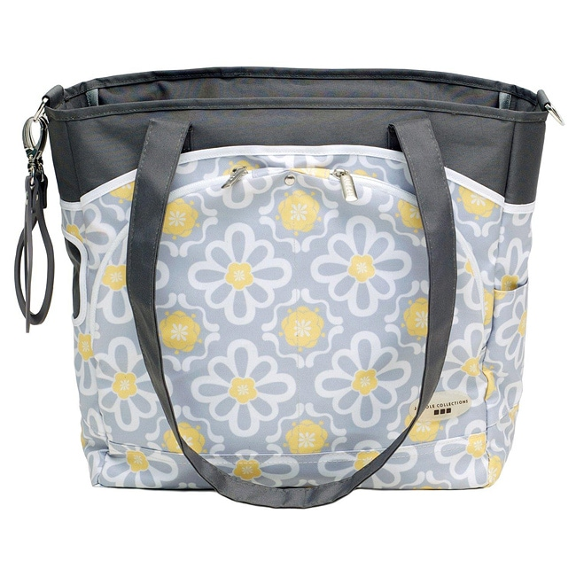 jj cole mode diaper tote in lemon posey 14107054 shopping the best prices on. Black Bedroom Furniture Sets. Home Design Ideas