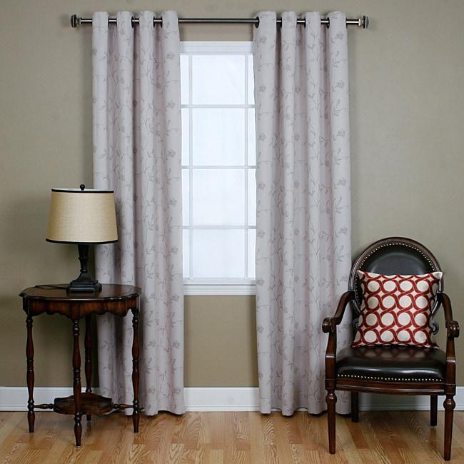 Stem Flower Printed 84-inch Grommet Curtain