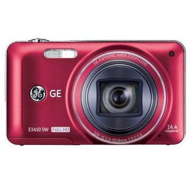 GE E1410SW 14MP Red Digital Camera