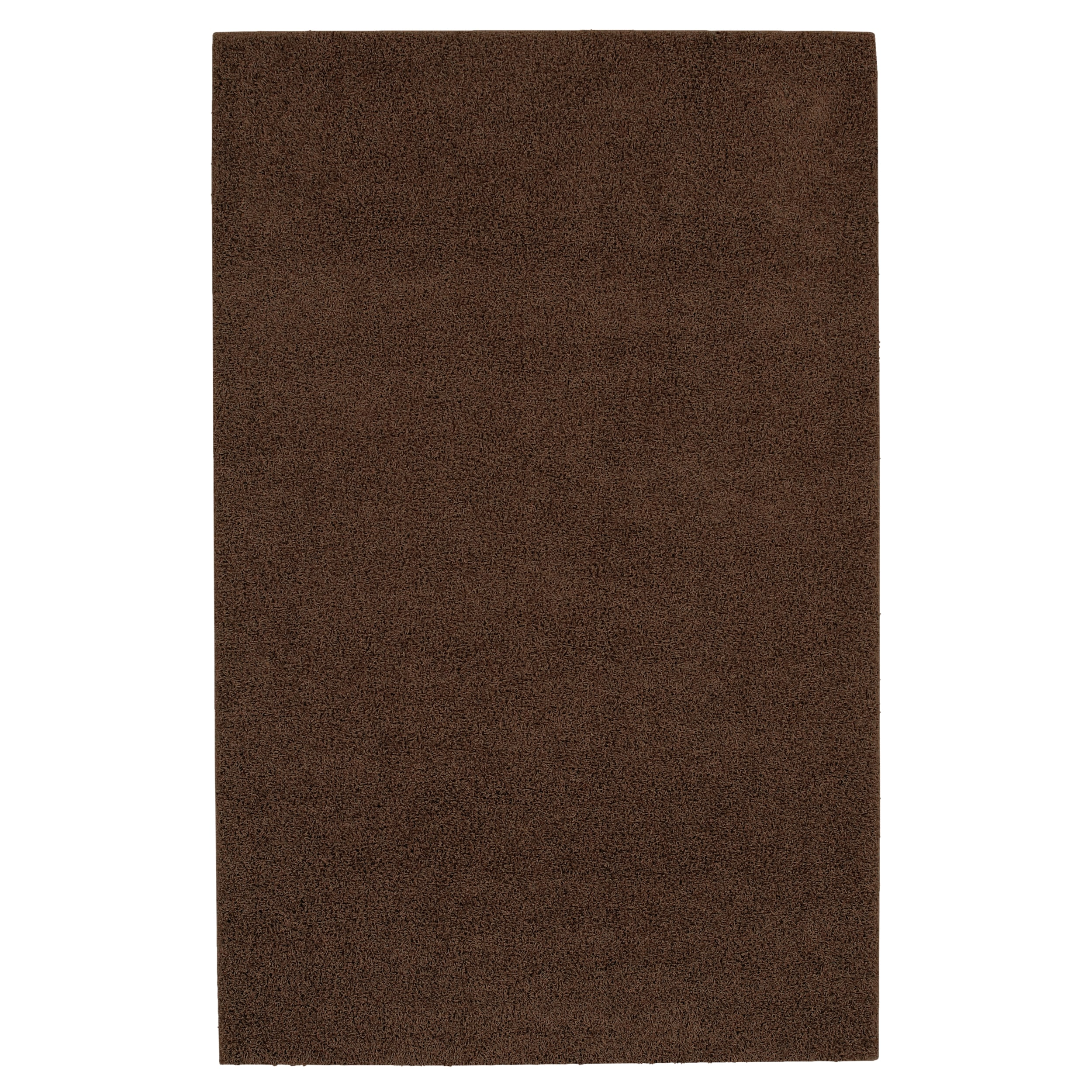 Solid Shag Brown Rug (5' x 8')