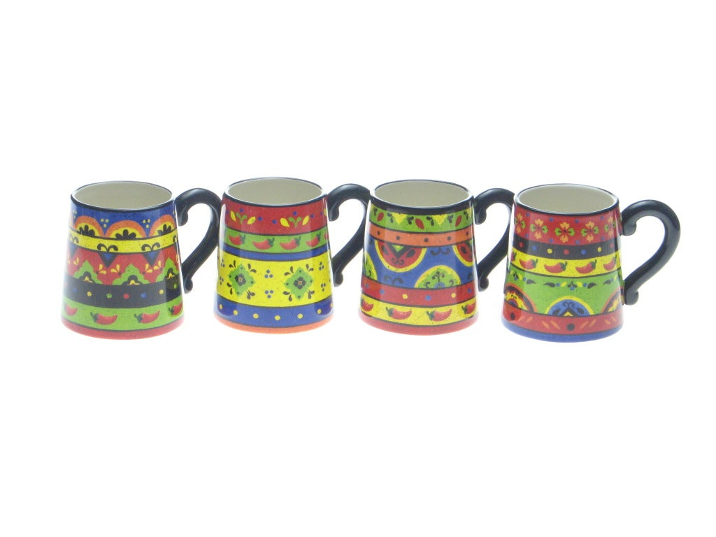 Certified International Hot and Saucy 18-ounce Mugs (Set of 4)