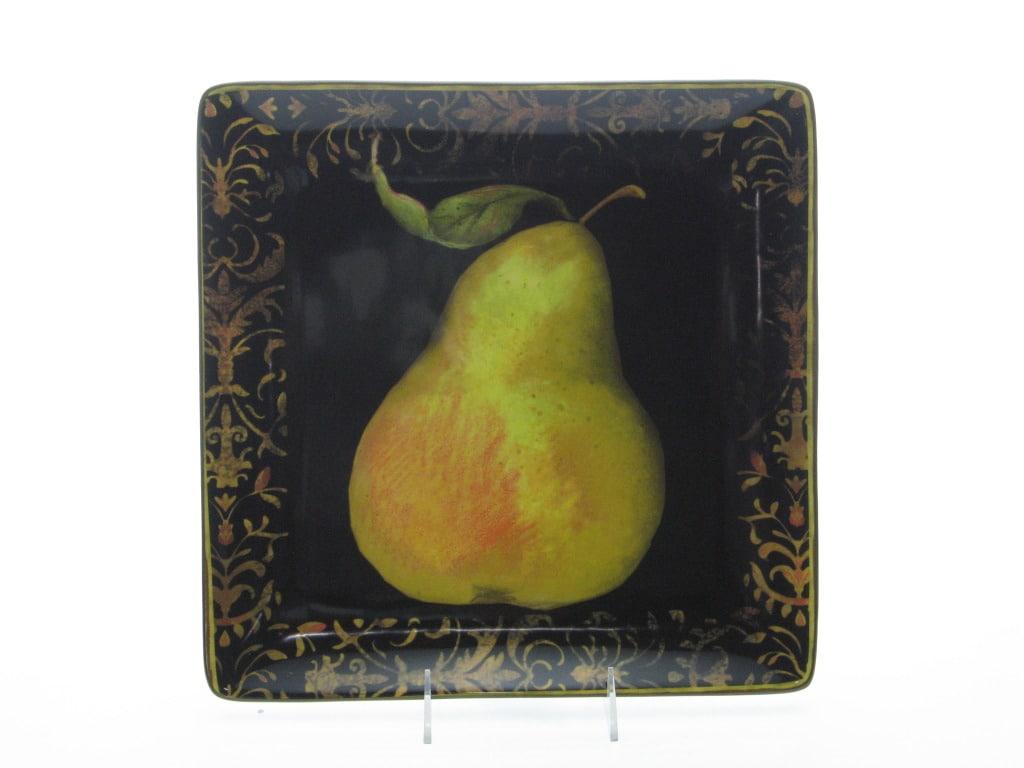 Certified International Fruit Filigree Square Platter