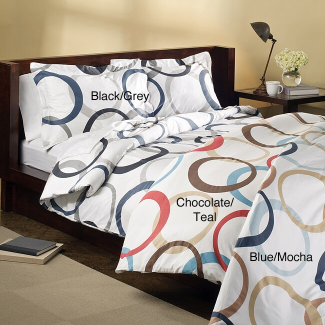 Infinity 3-piece King-size Duvet Cover Set