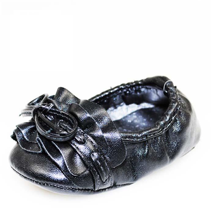 Baby Girl Black Glam Fashion Crib Shoes