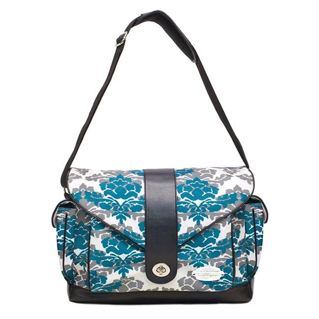 jj cole myla diaper bag in teal fleur 14115626 shopping the best prices on. Black Bedroom Furniture Sets. Home Design Ideas