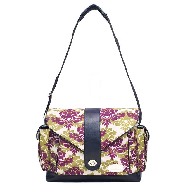 JJ Cole Myla Diaper Bag in Boysenberry Fleur