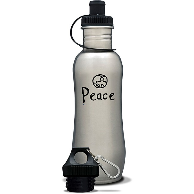 AffirmWater 32-oz 'I am Peace' Stainless Steel Water Bottle