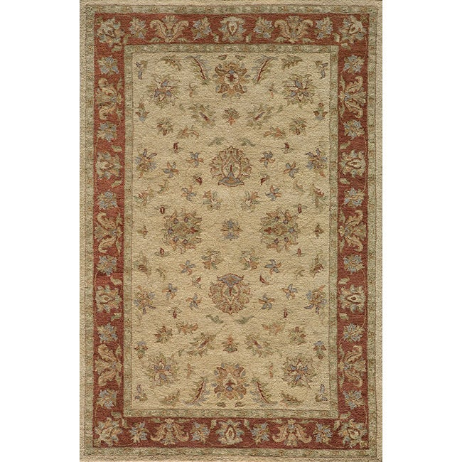 Hand-tufted Goa Gold Wool Rug (5' x 7'9)