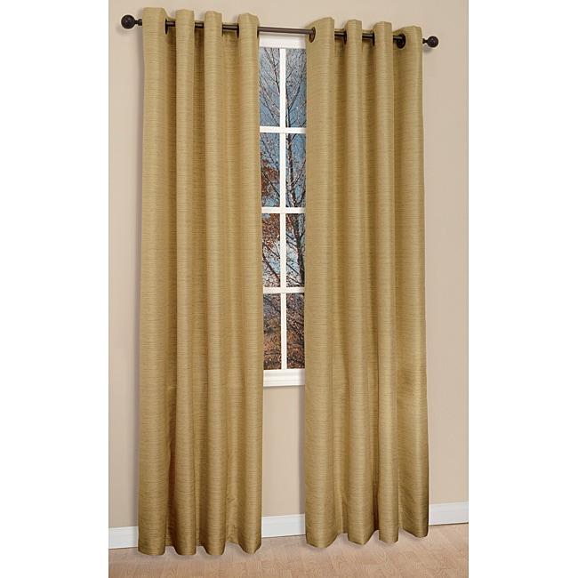 Victoria Antique Gold 84-inch Curtain Panels