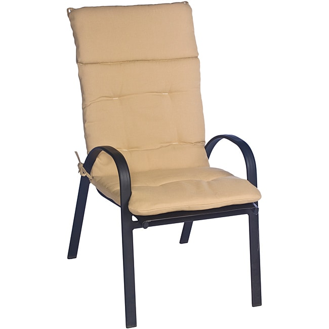 Overstock.com Ali Patio Polyester Beige Tufted Hi-back Outdoor Arm Chair Cushion at Sears.com
