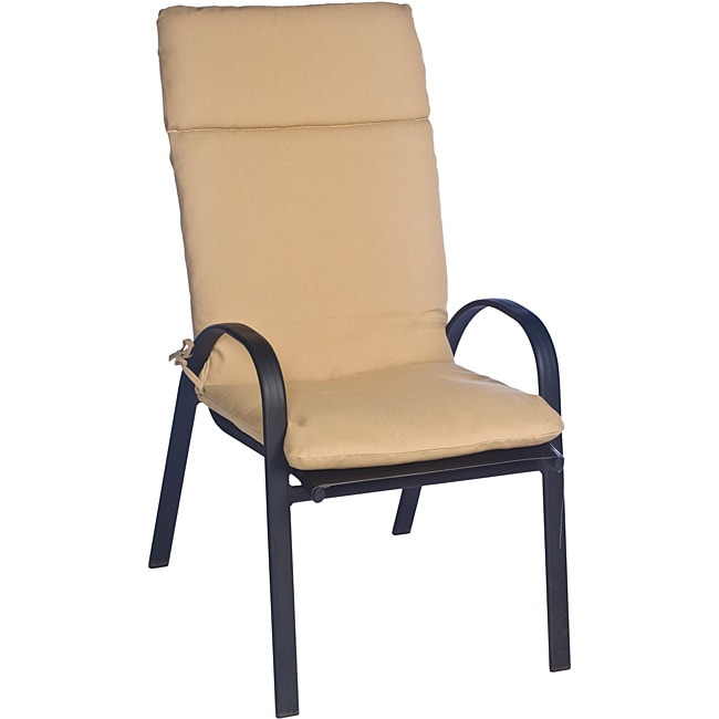 Overstock.com Ali Patio Polyester Beige Smooth Edge Hi-back Outdoor Arm Chair Cushion at Sears.com