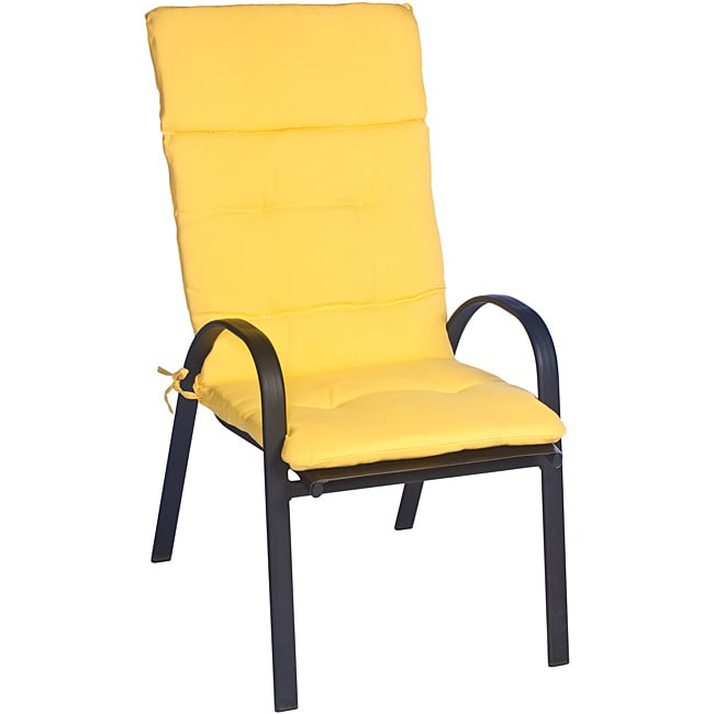 Overstock.com Ali Patio Polyester Yellow Solid Tufted Hi-back Outdoor Arm Chair Cushion at Sears.com