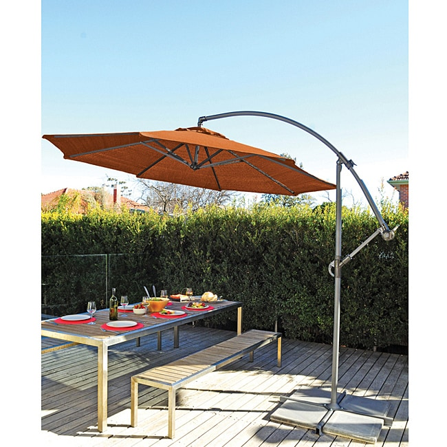 Gale Pac 10 Foot Terracotta Cantilever Umbrella