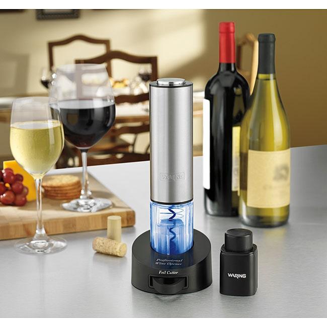 Waring Pro Cordless Wine Opener Gift Set