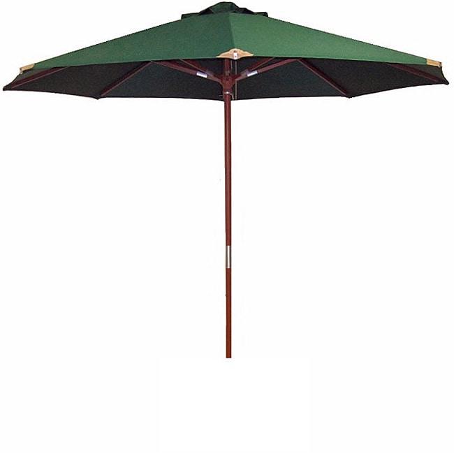 Lauren & Company Ultra Premium Spun Poly Hunter Green Market Umbrella