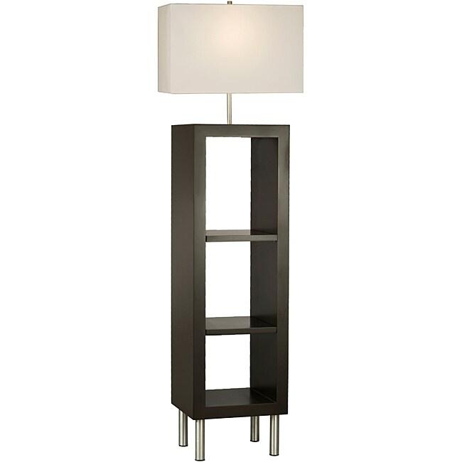 nova twin etagere shelving lamp 14124659. Black Bedroom Furniture Sets. Home Design Ideas