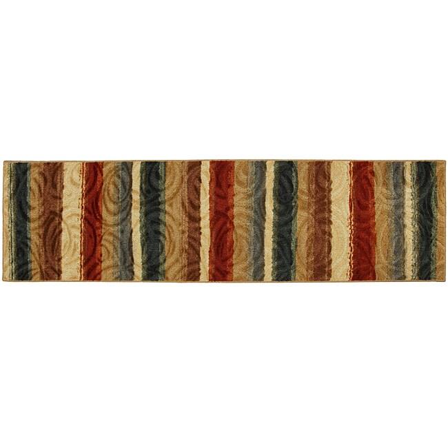 Mohawk Home Tonala Earth Mutli Striped Rug (2' X 8