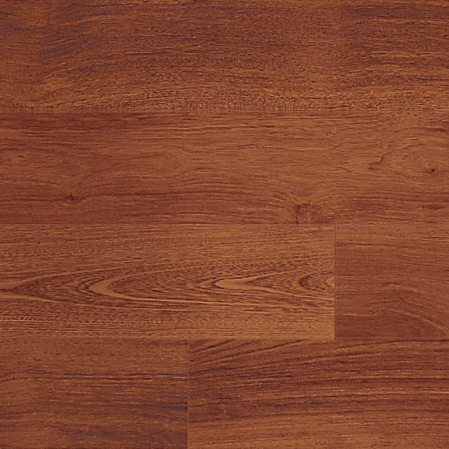 Easy Install 12mm Single-Strip Royal Mahogany Laminate Flooring (113.54 SF)