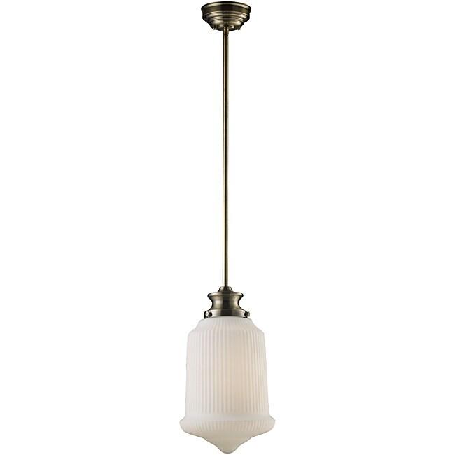 Elk Lighting Schoolhouse Pendant: Landmark Lighting Schoolhouse 69018-1 Pendant